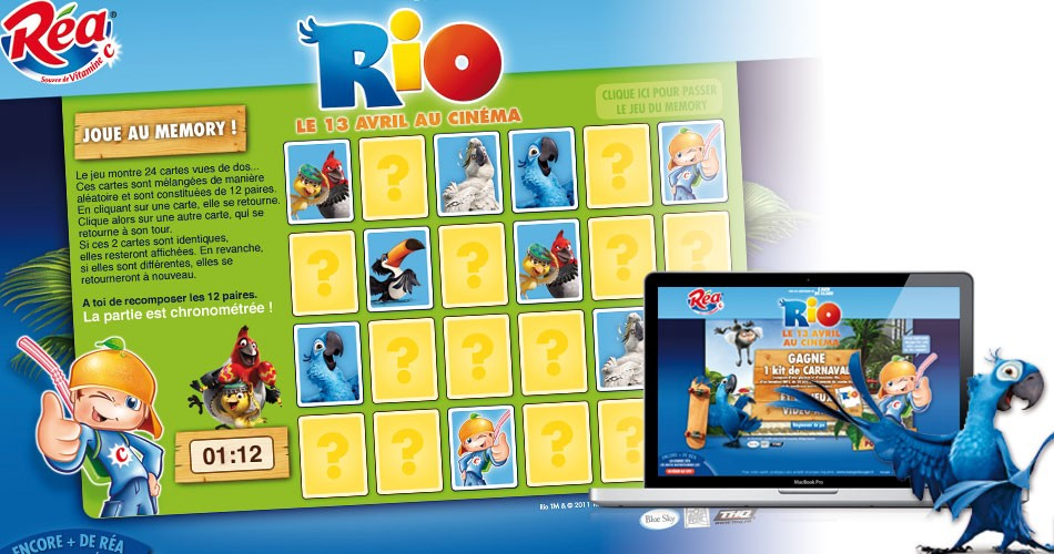 webdesign du site Réa-Rio.