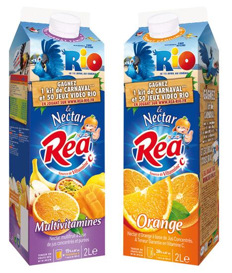 Brique de jus de fruit Réa-Rio