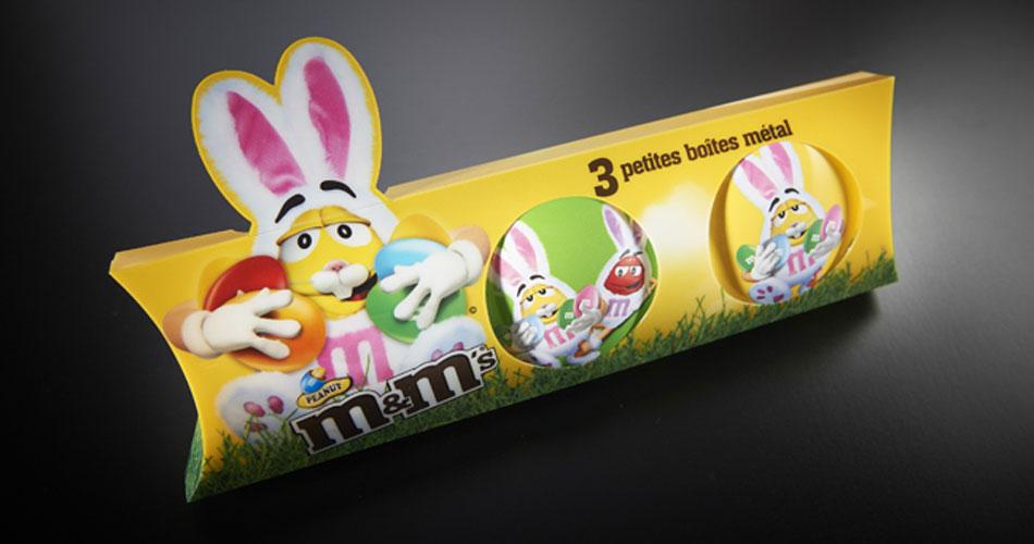 Création packaging M&M's lentil tins