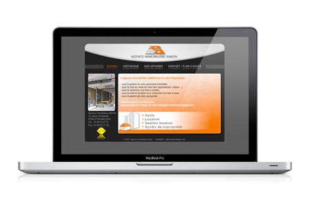 Site web de l'Agence Immobilière Simon