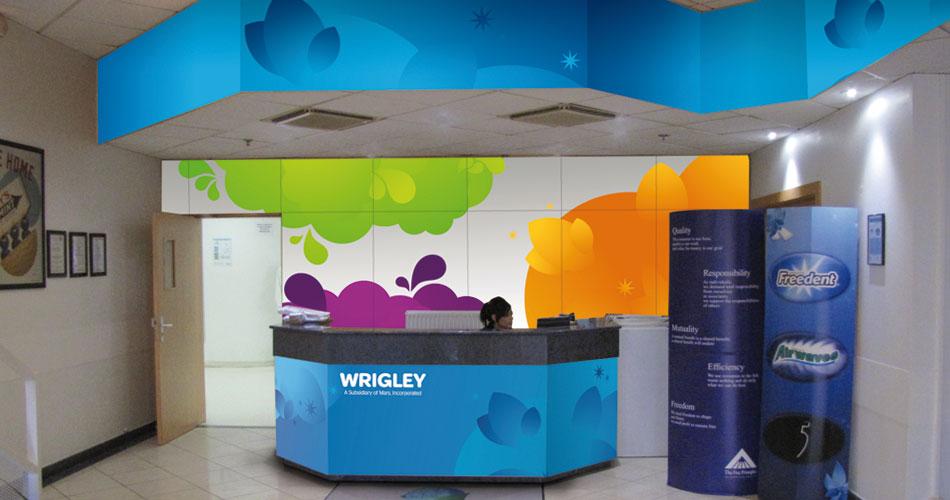 Habillage bureaux Wrigley