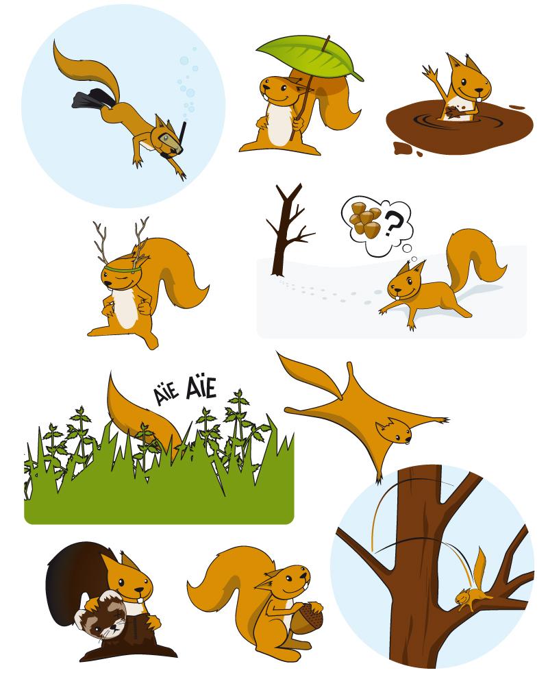 Mascotte Max l'écureuil