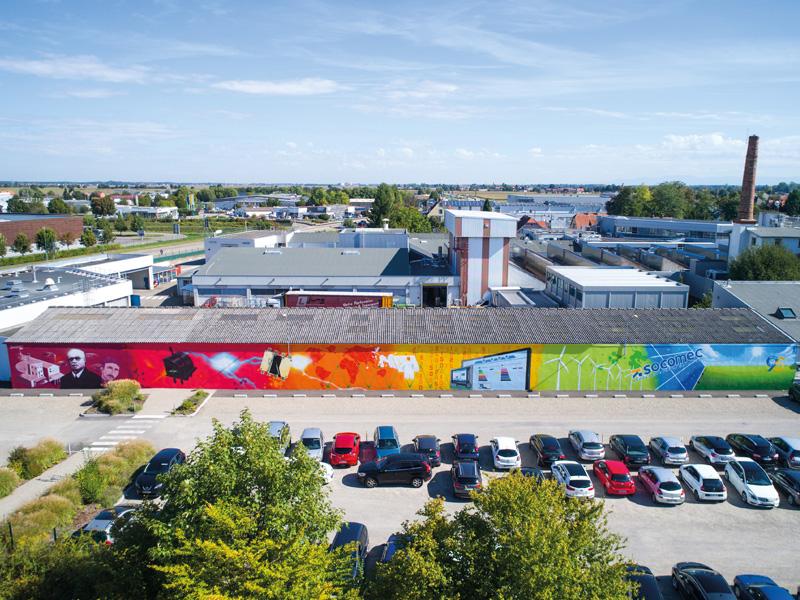 Graffiti : Fresque 95 ans de SOCOMEC