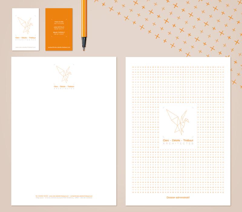 Charte graphique Clerc- Détolle - Thiébaut / Architectes