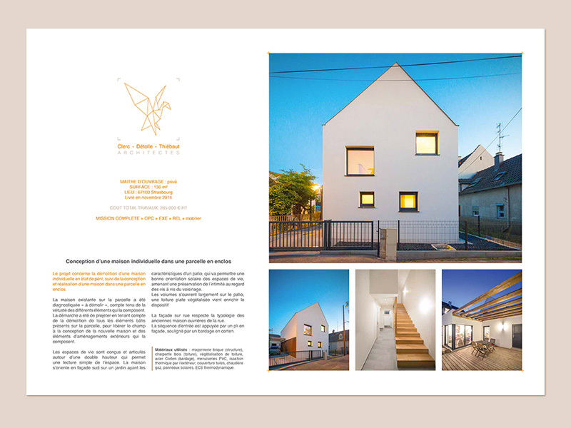 Planche de présentation de projet A3